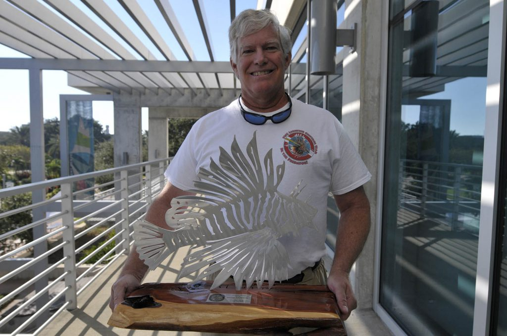 Introducing the Florida Fish and Wildlife Conservation Commission's first-ever Lionfish King, David Garrett