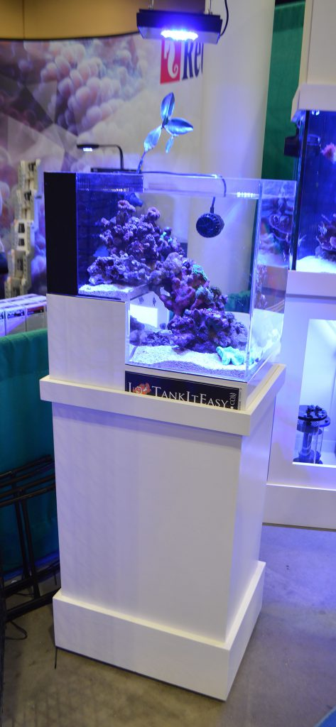 This Dropoff Reef Aquarium set up by TankItEasy continued to spin the entire show. You must watch the video.