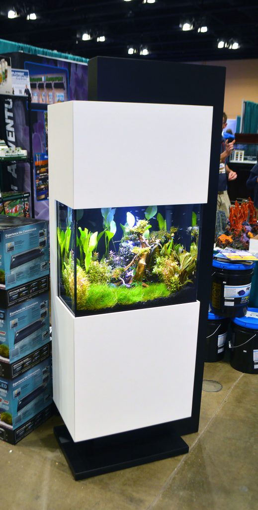 This IFALOS™ Kithros aquarium, on display by Aquarium Adventure at the 2016 Aquatic Experience - Chicago, stopped people in their tracks.