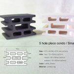 5-Hole Pleco Condo, Small