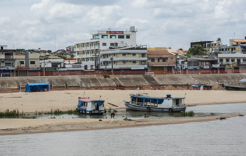 Santarém's waterfront at the juncture of the Tapajós and Amazon rivers