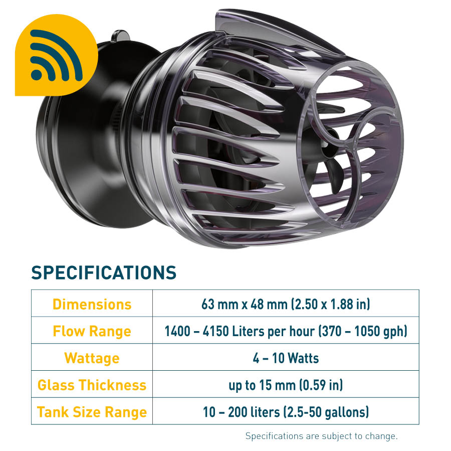 The KPS Wavemaker is virtually silent and and energy efficient
