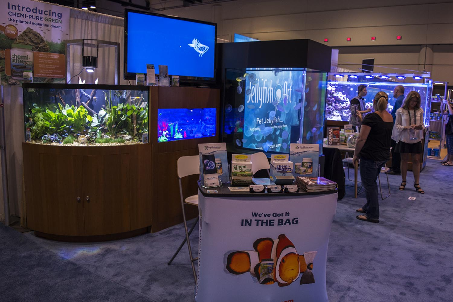 Boyd Enterprises (Chemipure) and Reef Aquaria Design always go all-out for one of the most impressive displays at the show.