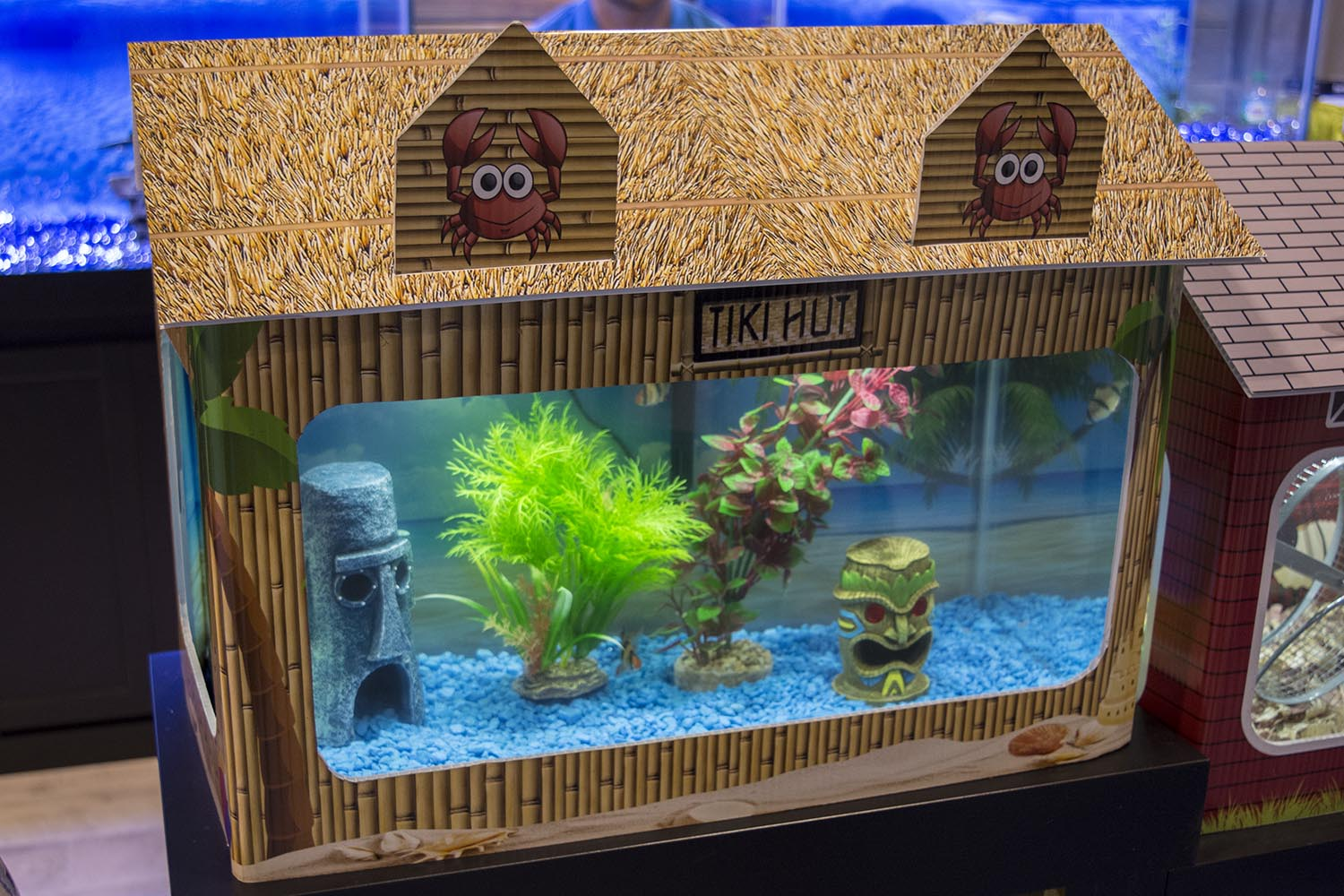 It may not be to everyone's taste, but this tiki hut tank wrap from tank and furniture builders R&J Enterprises is undeniably fun and kitschy.