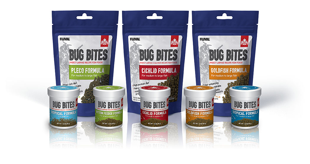 Fluval Aquatics' new line of Bug Bites fish food debuted at Global Pet Expo earlier this spring