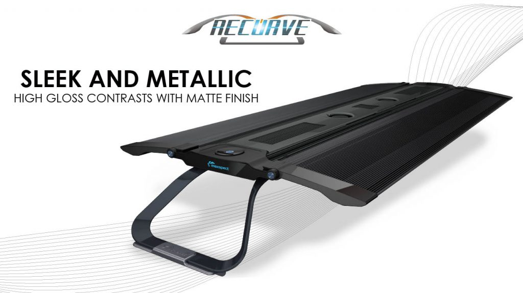 One of your first looks at the newest LED reef aquarium light from Maxspect: the new Recurve.