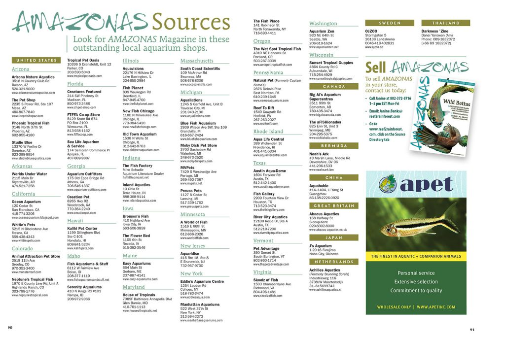 Find AMAZONAS Magazine for sale as single issues at the BEST aquarium retailers. View this list online as well.