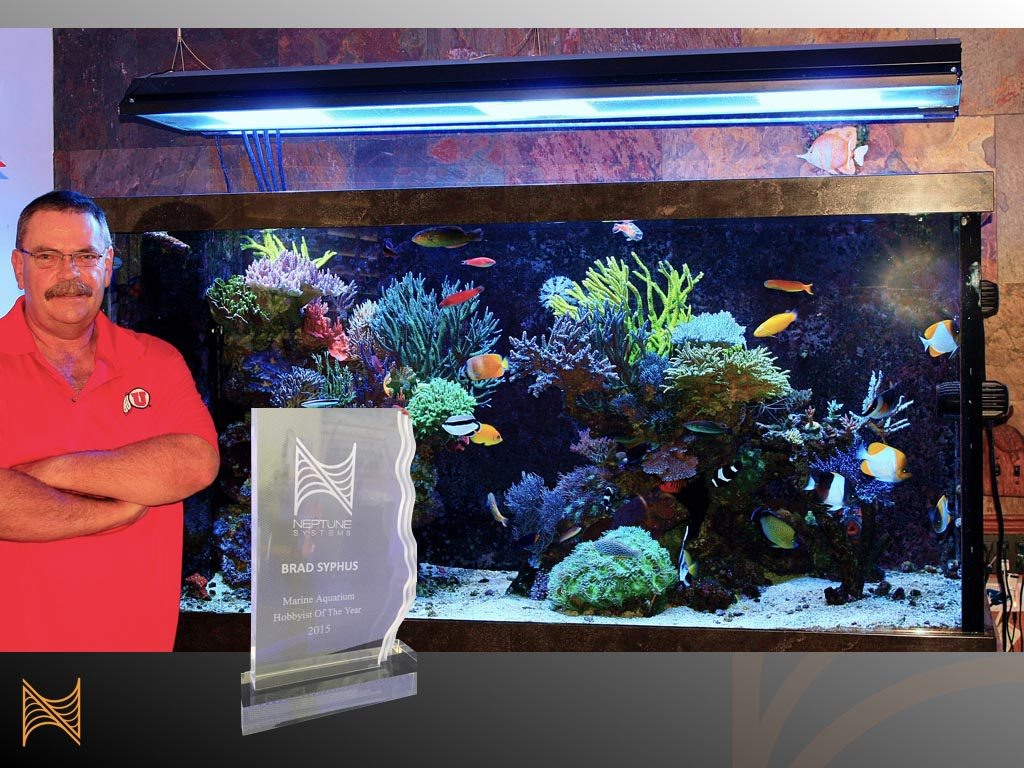 Brad Syphus, the first Neptune Systems Marine Aquarium Hobbyist of the Year, recognized with the honor in 2015.