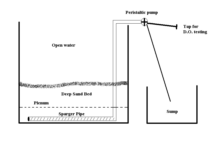 Untested design for an active deep sand bed system