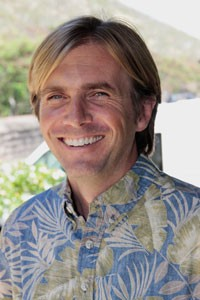 "Dr. Chatham ""Chad"" Callan, team leader at the Oceanic Institute. Image: Hawaii Pacific University."