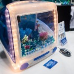 iMacAquariums designed and built by Jake Harms were among the creative aquariums for sale at Aquatic Experience – Chicago 2015. Image by Dan Woudenberg/LuCorp Marketing for the World Pet Associatio