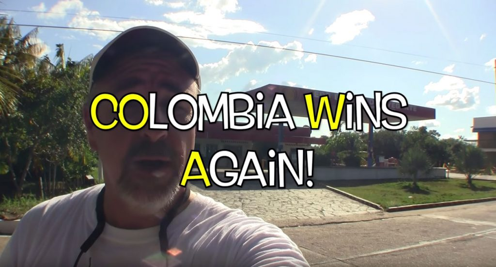COWA! COlombia Wins Again, a now recurring theme as the expedition continues to come up against obstacles one might never expect in other parts of the world.