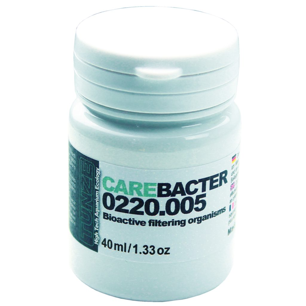 Care Bacter 0220.005; a new bacterial supplement from TUNZE designed to lower nitrates and phosphates while also reducing the risks of Vibrio.
