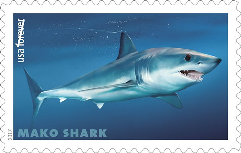 Shortfin Mako Shark (Isurus oxyrinchus), USPS Stamp
