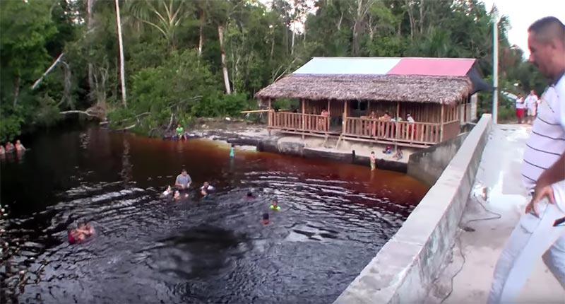 We continued on to the village at the Caño Vitina crossing, where we found the party going on. Colombia...is awesome!