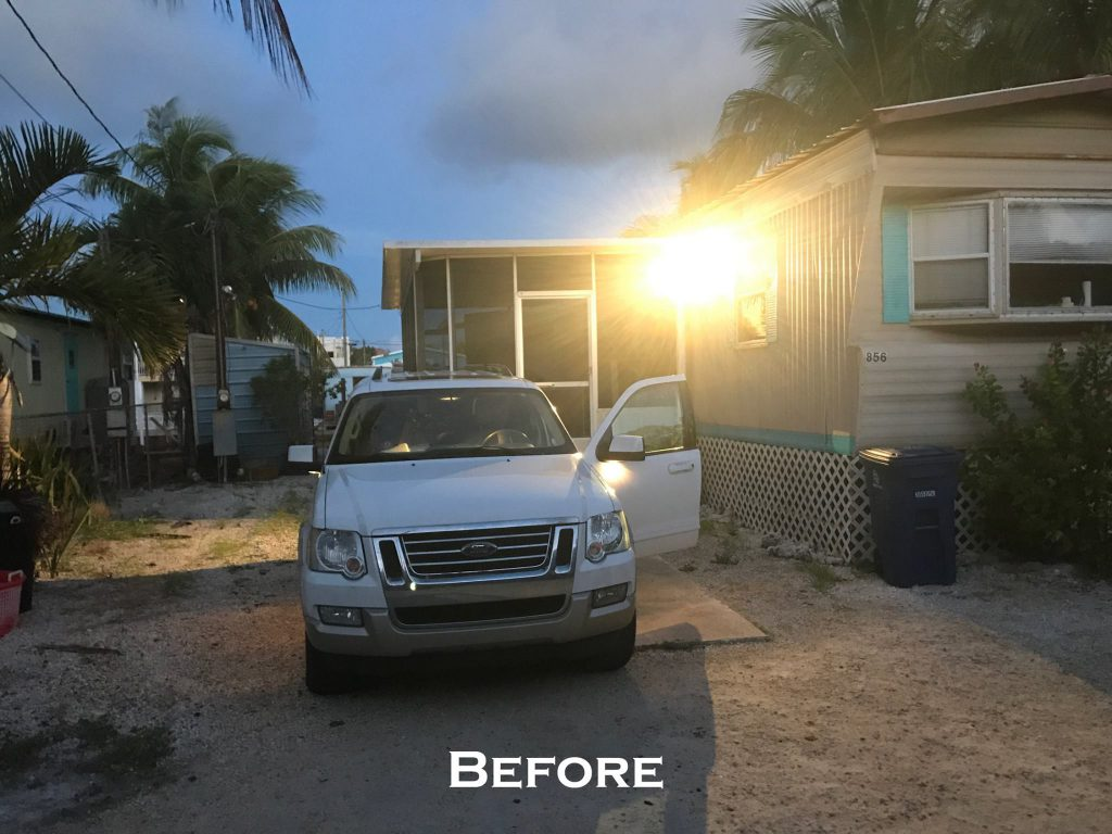A & M Aquatics operates a coral farm in the Florida Keys. Prior to Irma, this mobile home was used as the coral farm residence.