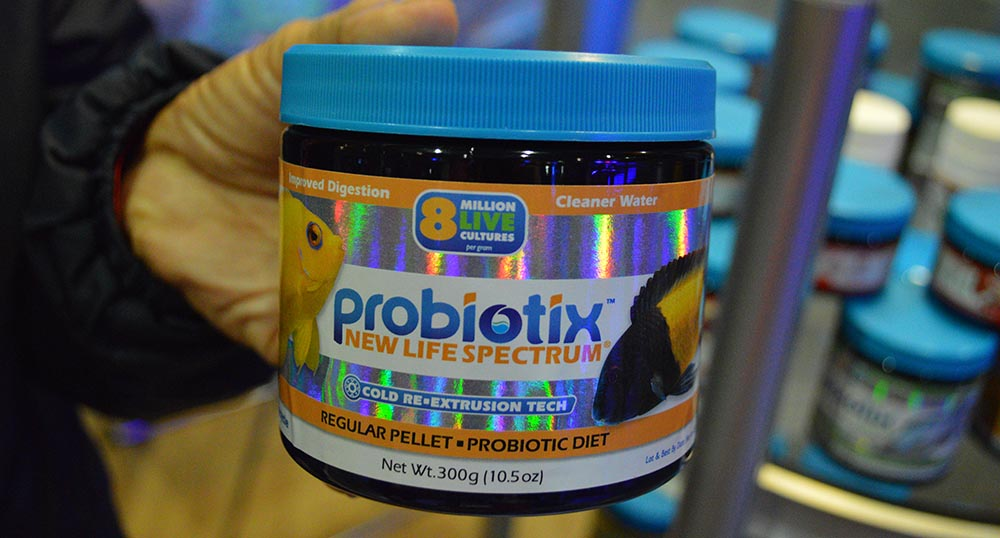 You saw it here first; New Life Spectrum's Probiotix line of aquarium fish foods, teased at MACNA 2017