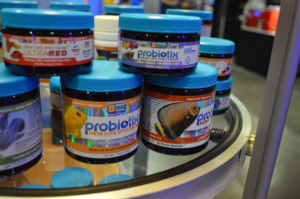 New Life Spectrum's Probiotix will clearly come in a wide range of pellet sizes.