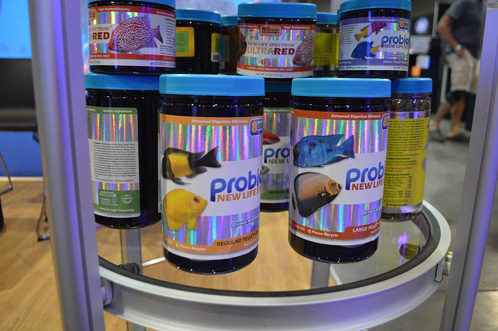 Larger containers of Probiotix from NLS, on display at MACNA 2017