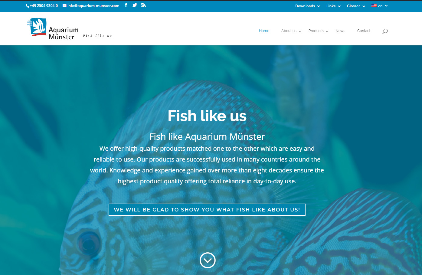The newly-renovated www.aquarium-munster.com