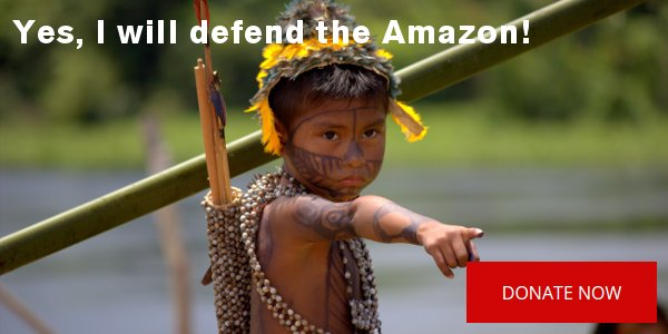 Yes, I will defend the Amazon!