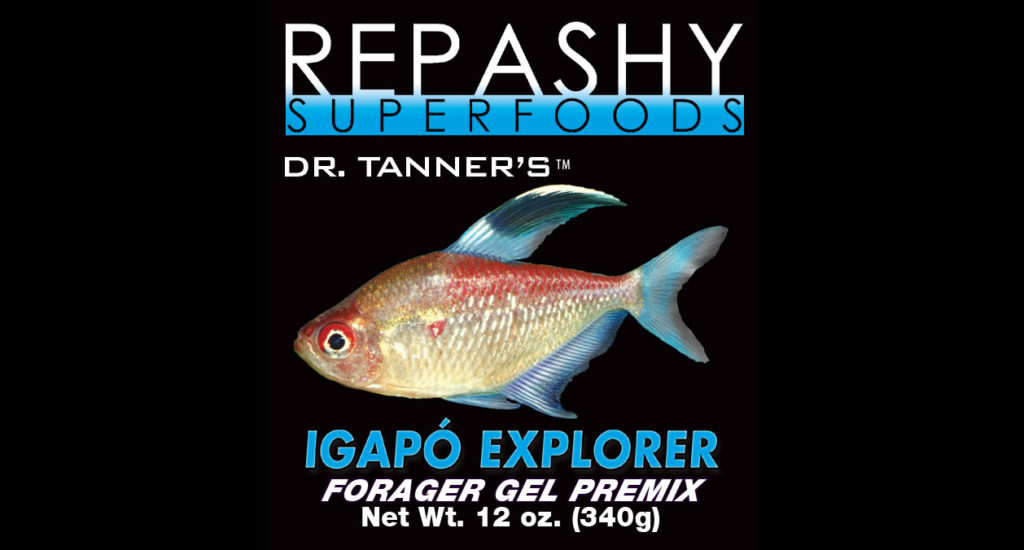 Igapó Explorer is a new food designed to emulate the forage-based diets of most rainforest-dwelling tropical fish.