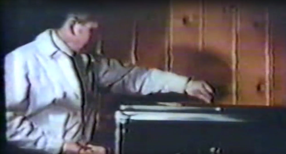 1970s vintage footage of feeding freeze dried brine shrimp to a tank full of marine fish!