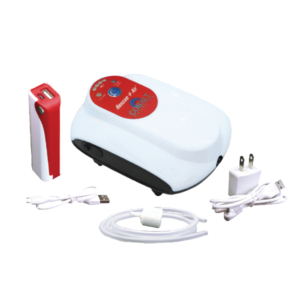 The Cobalt Rescue Air features a USB Rechargeable Air Pump, additional external battery pack to extend run times up to 72 hours, airline and an airstone