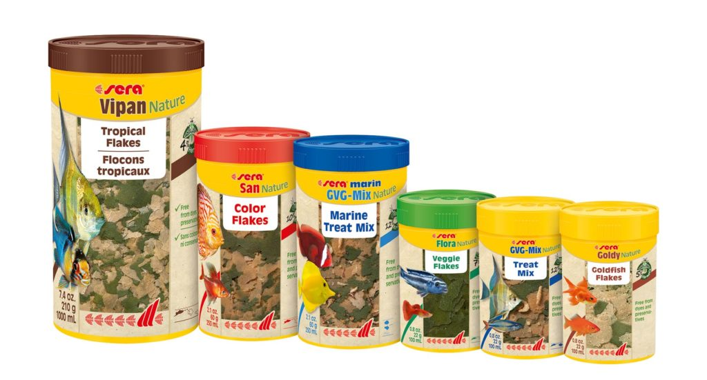 sera's new Nature line of aquarium fish foods.