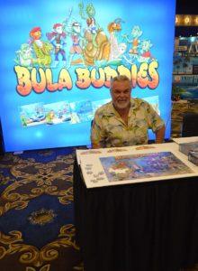 Walt Smith debuting the Bula Buddies book series at MACNA 2018, Las Vegas, NV.