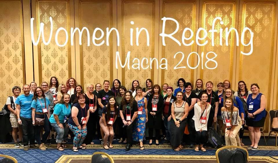 Women In Reefing - a widely attended meetup at MACNA 2018