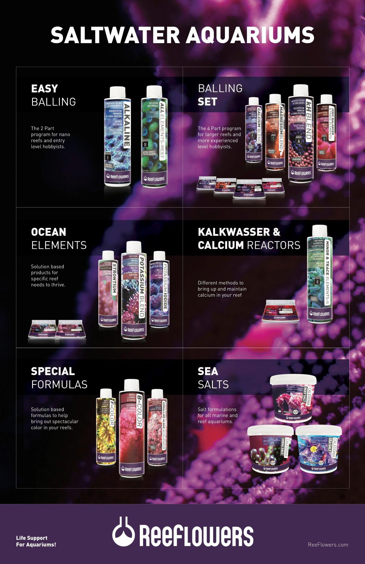 The ReeFlowers product line is now being distributed in the US by Cobalt Aquatics.
