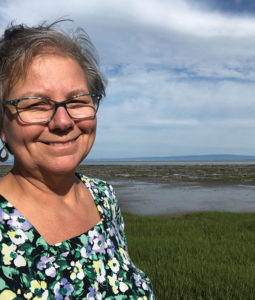 Ann Whitman in the field: The St. Lawrence River in Québec, Canada spills into the Gulf of St. Lawrence, the world's largest estuary, before mixing with the Atlantic Ocean. Photo: D. Whitman