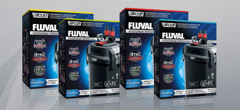 Fluval's 07 Canister Filter series was also launched in 2019.