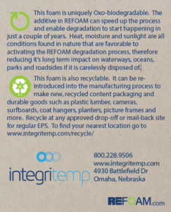 What's up with this foam? (A REFOAM infocard from IntegriTemp)