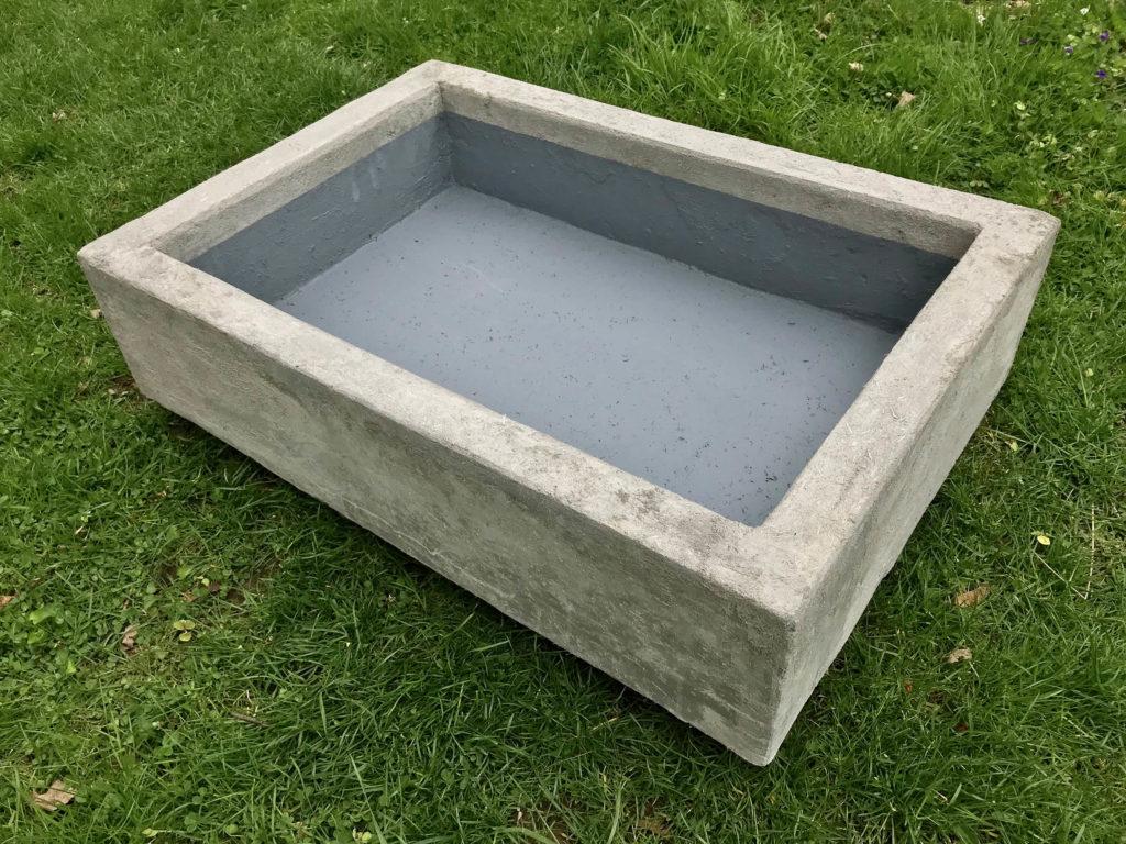 Open Terrarium Concrete Basin
