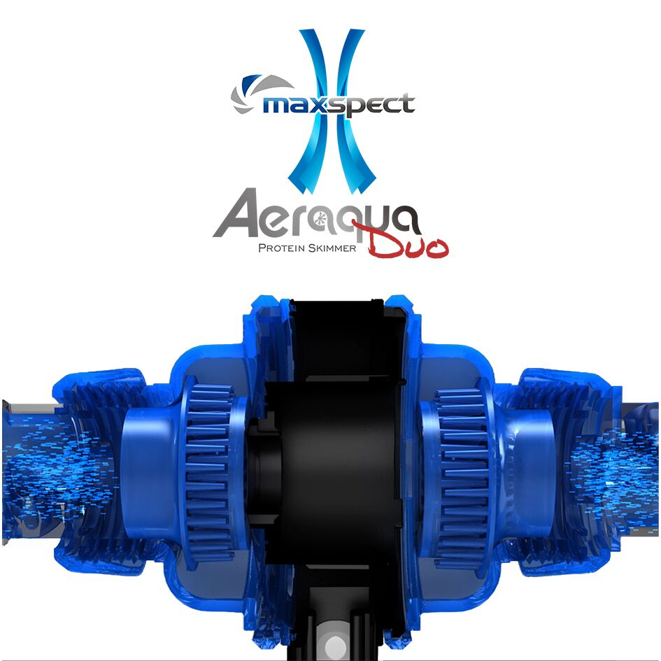 Two intakes and two needle wheels set the Aeraqua Duo AD600 apart from past skimmer designs.