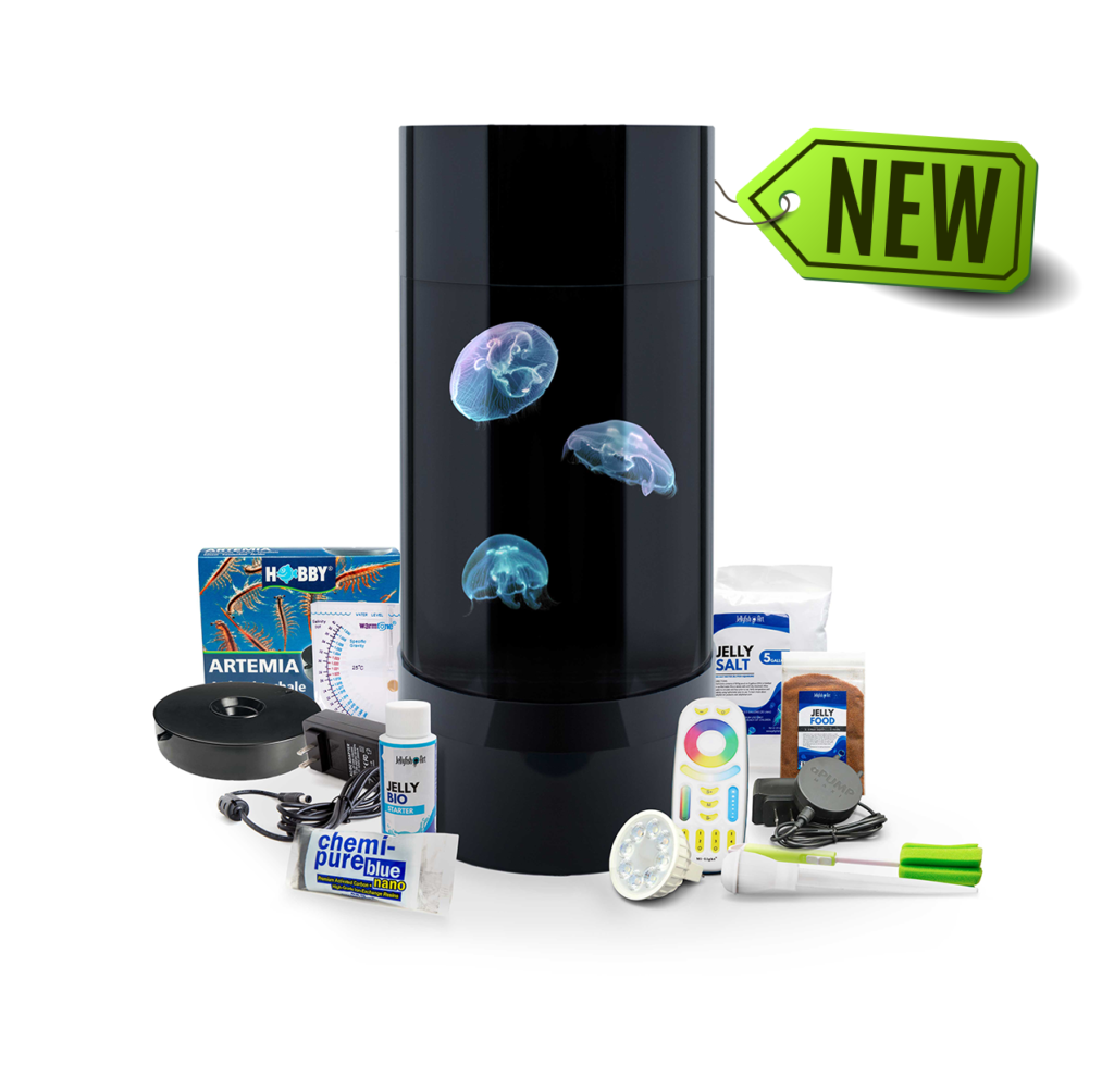 The second-generation Jelly Cylinder 5 offers several feature improvements over the prior iteration of the 5 gallon jellyfish cylinder aquarium.