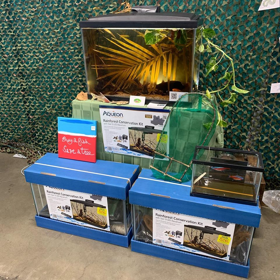 Rainforest Conservation Kits on display at the 2019 Aquatic Experience. Image Credit: Project Piaba