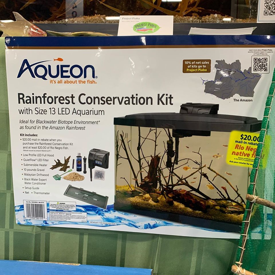 Aqueon & Project PIaba have teamed up on this 13 gallon Rainforest Conservation Aquarium Kit. Image credit: Project Piaba