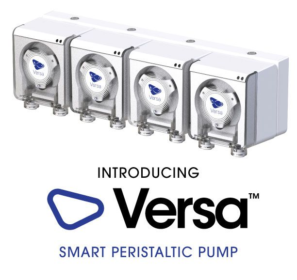 Introducing Versa - Ecotech Marine's new Smart Peristaltic Pump. Shown here, the VXF-1 package which includes 4 VX-1 pumps and the VXB-1 base station.