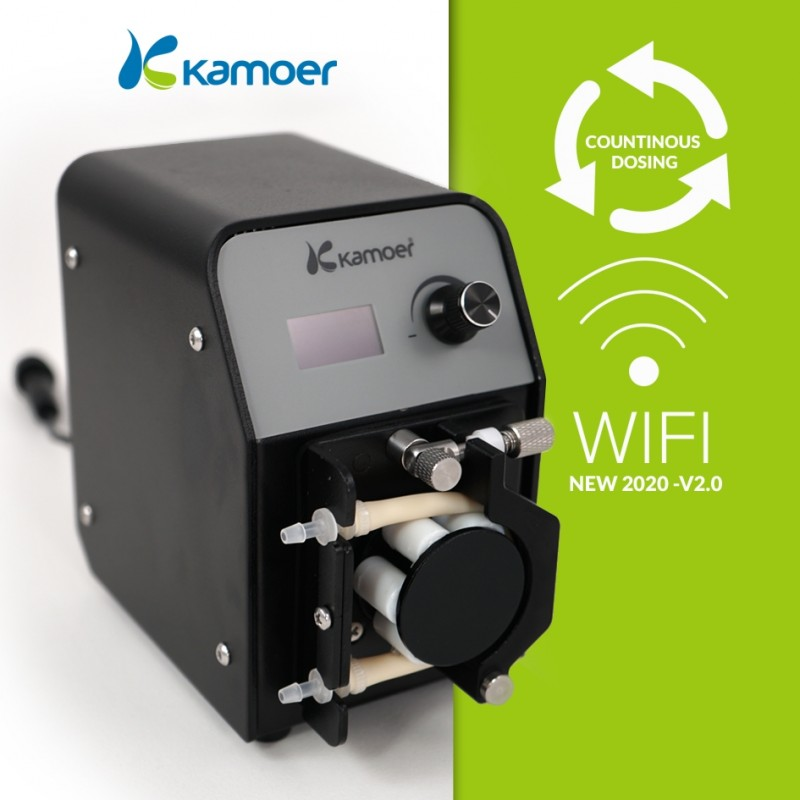 New for 2020: Version 2.0 of the Kamoer FX-STP dosing pump, now including Wi-Fi control.