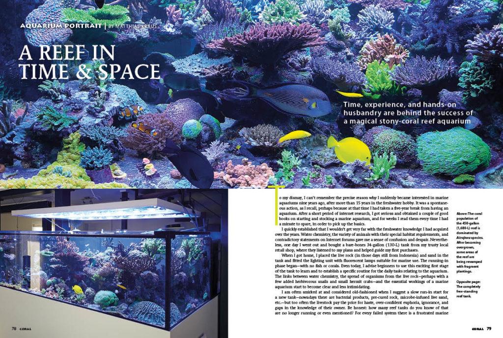 Experience the 450 gallon room divider reef of Matthias Kraus in this issue's AQUARIUM PORTRAIT.
