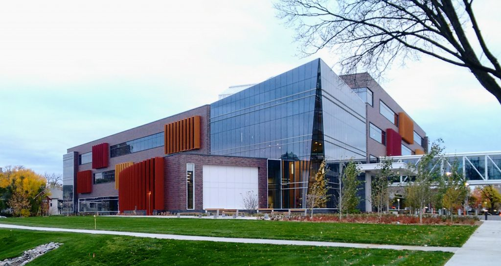The Hagfors Center on the Augsburg University campus in Minneapolis, MN.