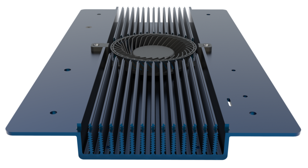 The G5 heat sink has been designed from the ground up to maximize surface area and allow for superior heat dispersion; effective heat management greatly reduces the need for active cooling, which decreases fan and airflow noise.