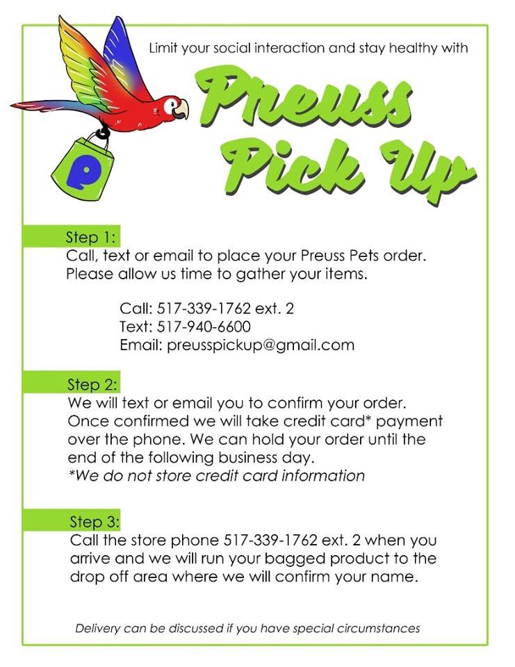 Preuss Pets institutes Preuss Pick Up.