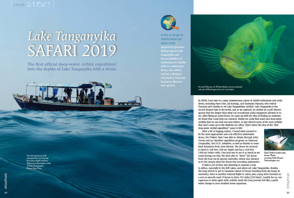 Mattia Matarrese and colleagues return to Lake Tanganyika with a Trident underwater drone, exploring the depths in search of new species. What perils and treasures will they encounter?