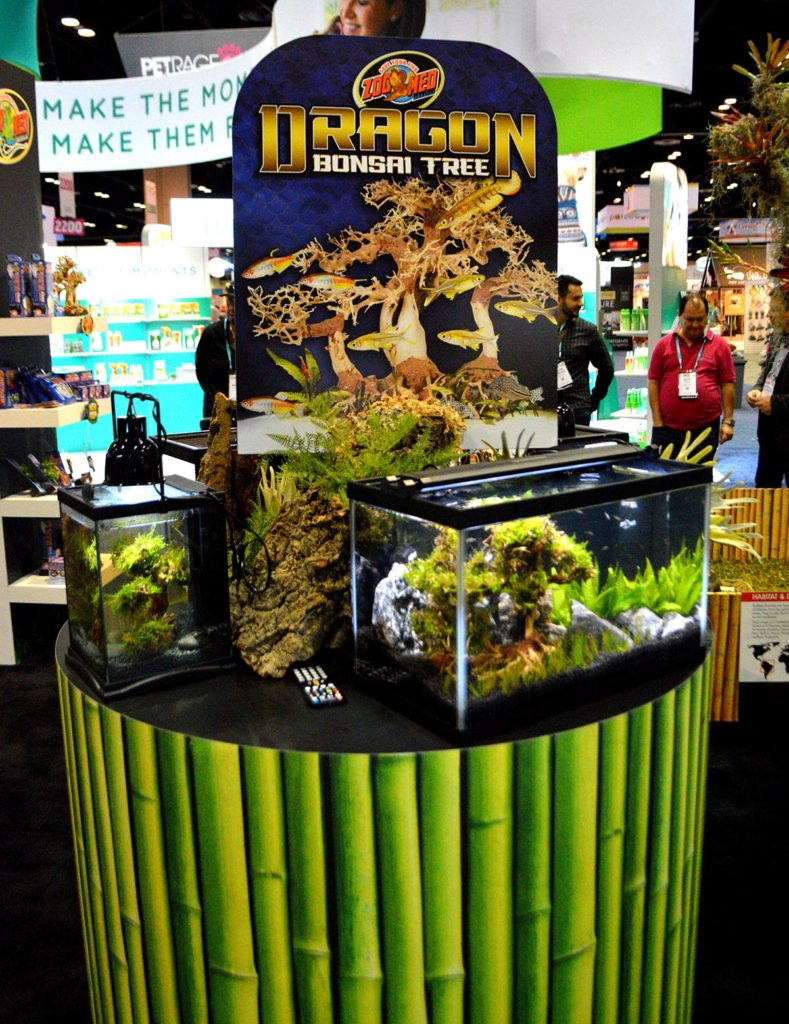 Zoo Med's award-winning new Dragon Bonsai Tree aquascaping product was introduced at the 2020 Global Pet Expo in Orlando, Florida.