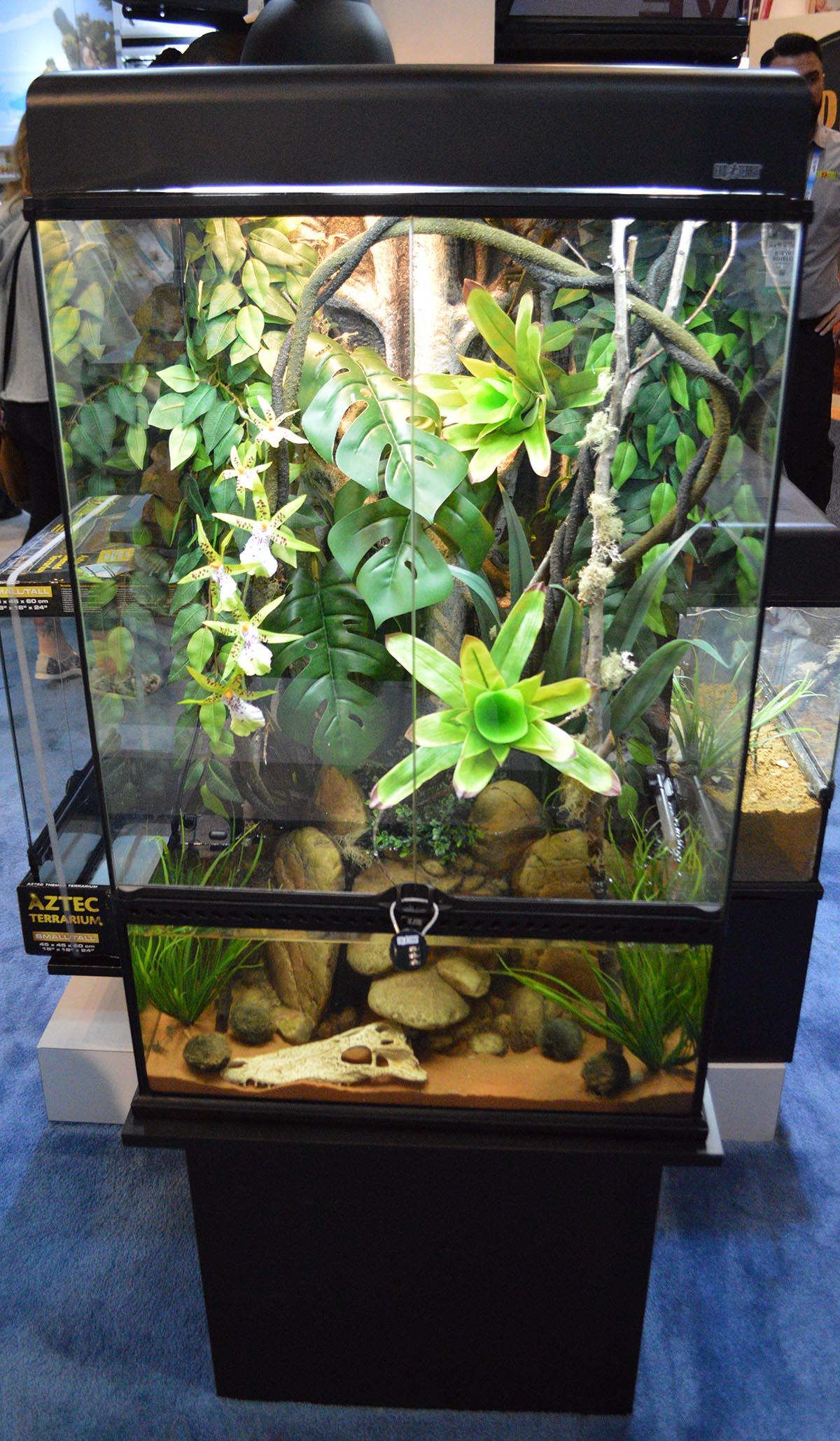 Exo Terra's Advanced Paludarium & Rainforest Terrarium.