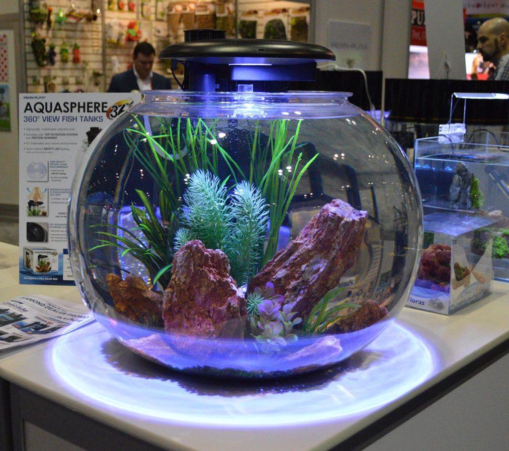 Penn-Plax also showcased their Aquasphere 360 aquarium.